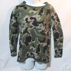 ZARA KNIT CAMO CAMOUFLAGE Sweater Jumper